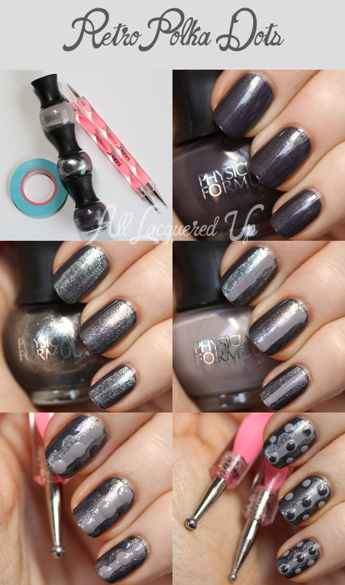 Retro Polka Dot Nail Art Tutorial