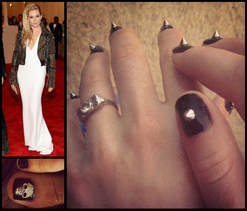 Sienna Miller nail art from the Met Gala 2013 by Deborah Lippmann
