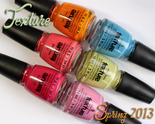China Glaze Texture nail polish collection for Spring 2013
