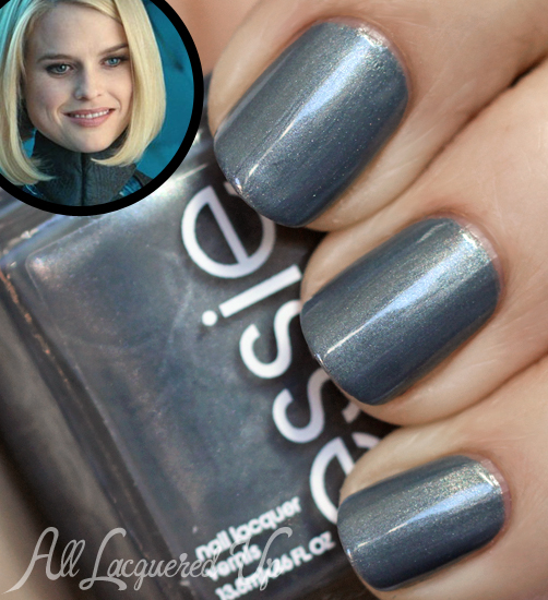Essie Fair Game nail polish swatch. Star Trek Carol Marcus nails