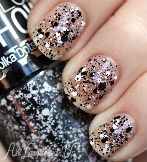 Maybelline Color Show Clearly Spotted Polka Dots glitter nail polish swatch