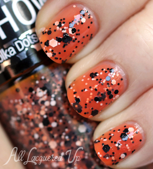 Maybelline Color Show Dotty Polka Dots glitter nail polish swatch