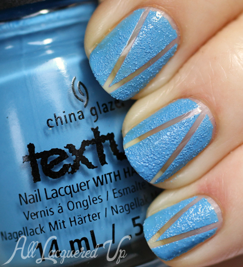 Negative Space Nail Art Manicure using China Glaze Texture