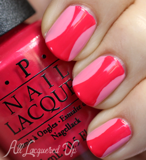 OPI Couture de Minnie nail art Hourglass manicure