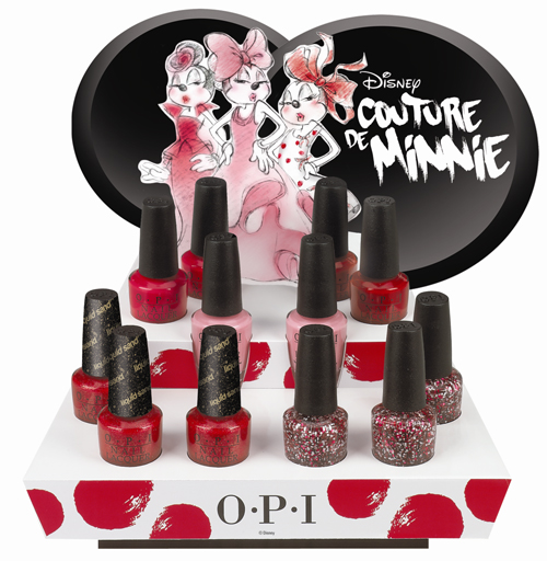 OPI Couture de Minnie nail polish display