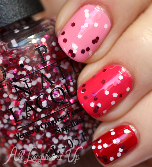 OPI Minnie Style Glitter Top Coat nail polish swatch