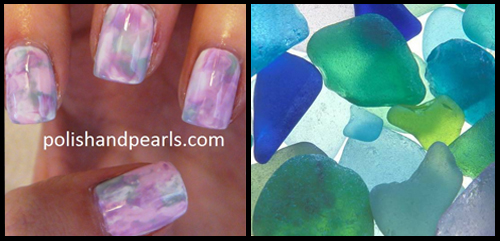 Watercolor Marble Nail Art Pinspiration