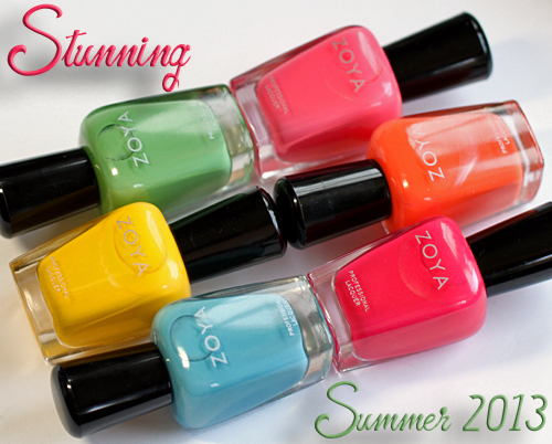 Zoya Stunning nail polish collection for Summer 2013