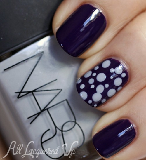NARS Fall 2013 Galathee and Fury dotticure nail art