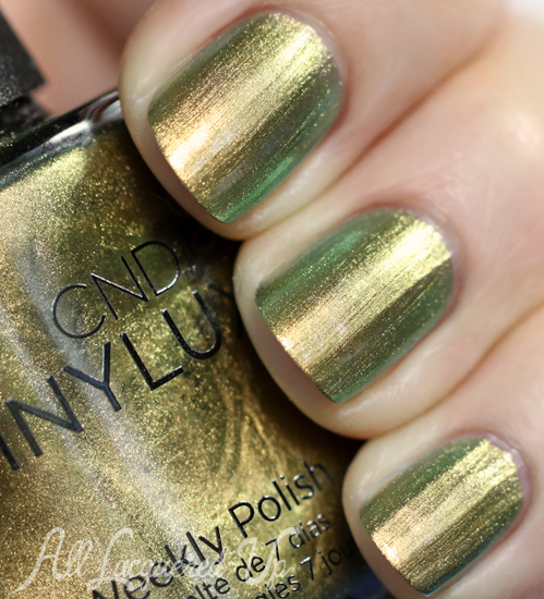 cnd gilded pleasure vinylux nail polish swatch CND VINYLUX Weekly Nail Polish Review & Swatches