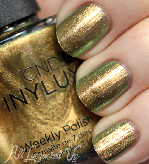 cnd vinylux gilded pleasure nail polish swatch CND VINYLUX Weekly Nail Polish Review & Swatches