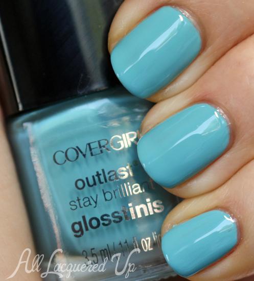 COVERGIRL Blue Hawaiian Glosstinis nail polish swatch