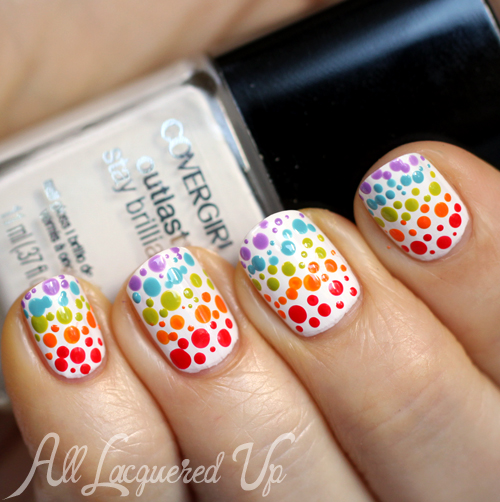 COVERGIRL Glosstinis Nail Art - Rainbow Gradient Dotticure