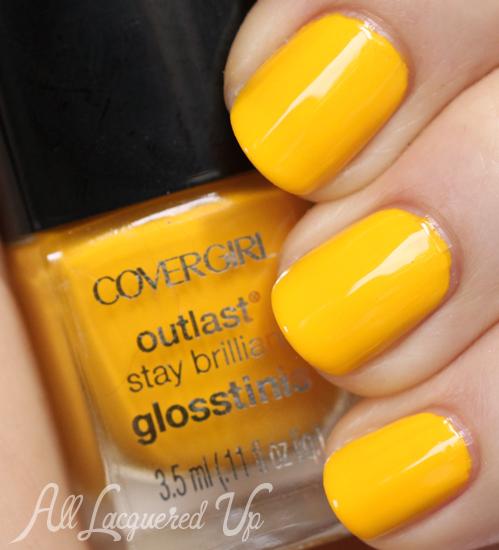 COVERGIRL Lemon Drop Glosstinis nail polish swatch