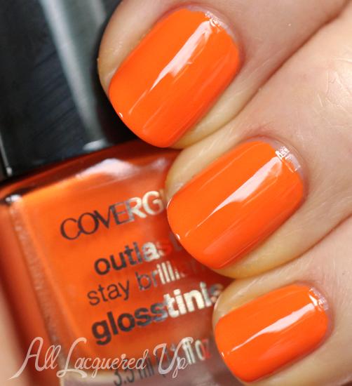 Orange Nail Polish Combinations: COVERGIRL Outlast Glosstinis Summer 2013 Nail Polish