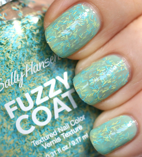Sally Hansen Fuzz-Sea Fuzzy Coat jelly sandwich with Jaded