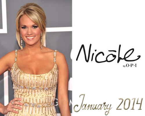 Nicole by OPI partners Carrie Underwood in January 2014