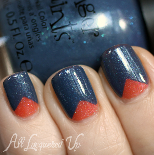 Chevron nail art with FingerPaints Sarong So Right and You Yacht To Know Better