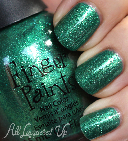 FingerPaints Our Tips Are Tealed nail polish swatch