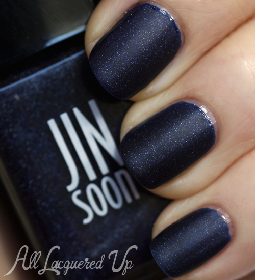 JINsoon Azurite nail polish with Matte Maker