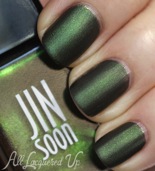 JINsoon Epidote nail polish with Matte Maker
