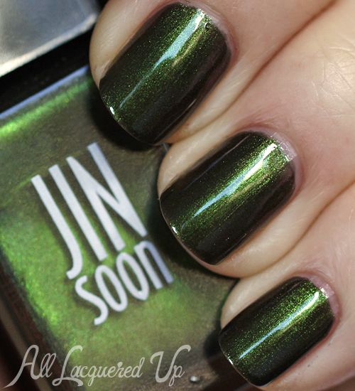 JINsoon Epidote nail polish swatch