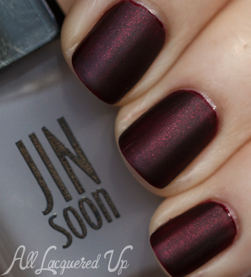 JINsoon Jasper nail polish with Matte Maker