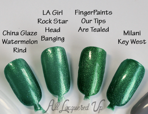 Teal Nail Polish - China Glaze, LA Girl, FingerPaints and Milani