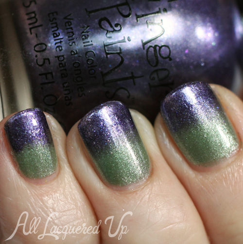 Ombre Gradient Nail Art with Fingerpaints A Pair Affair