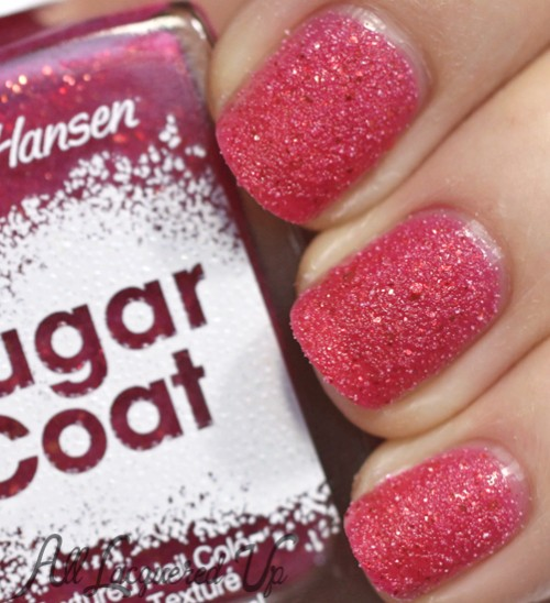 Sally Hansen Sugar Coat Pink Sprinkle nail polish swatch