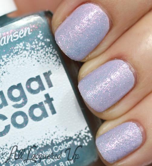 Sally Hansen Royal Icing Sugar Coat over Pink a Card nail polish