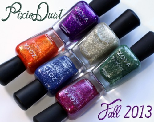 Zoya Fall 2013 PixieDust textured nail polish