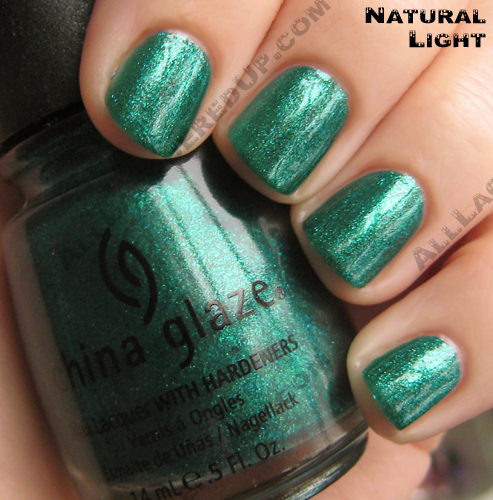 China Glaze Watermelon Rind nail polish swatch