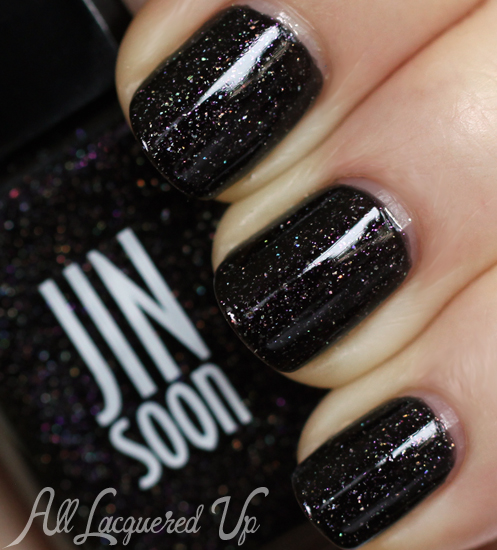 JINsoon Obsidian nail polish swatch