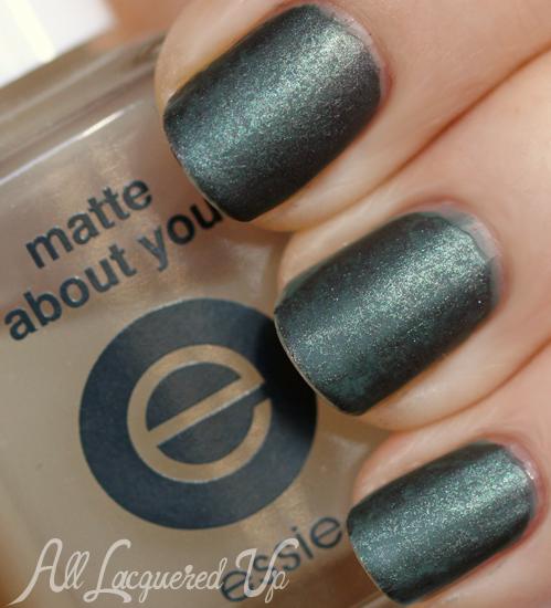 saran wrap manicure nail art essie matte