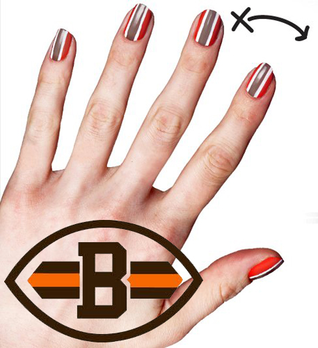 COVERGIRL NFL Cleveland Browns Fanicure Nailgating