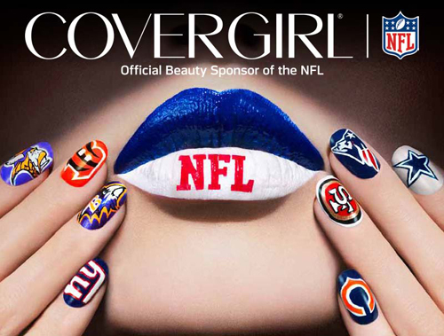 COVERGIRL NFL Fanicure nail art for Nailgating