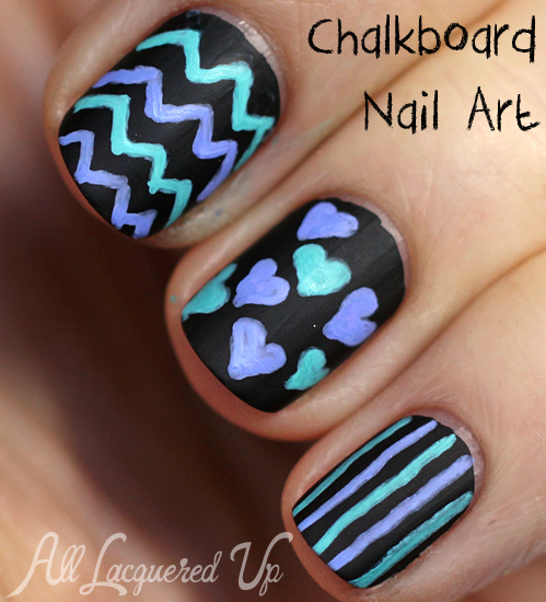 Chalkboard Nail Art DIY Tutorial How-To