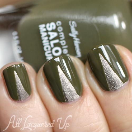 Chevron nail art prabal gurung sally hansen fall 2013