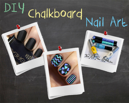 DIY Chalkboard Nail Art Tutorial
