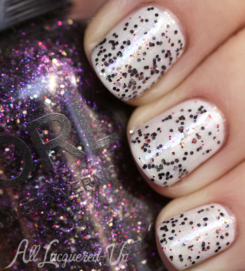 Orly Digital Glitter nail polish swatch