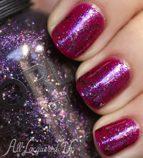 Orly Digital Glitter Pink Poodle layering