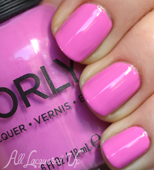 Orly Pink Waterfall nail polish swatch