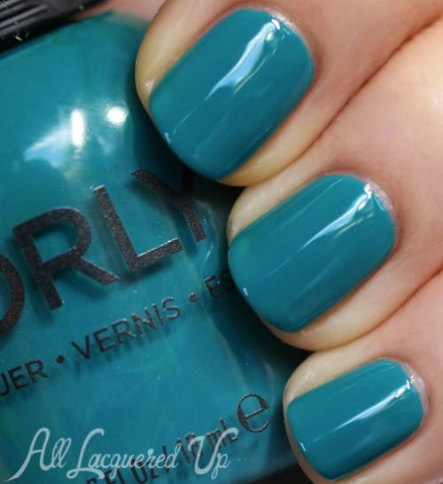 Orly Teal Unreal nail polish swatch