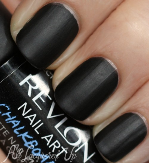 Revlon nail art chalkboard matte nail polish for fall 2013 all revlon chalkboard nail art black matte nail polish prinsesfo Images