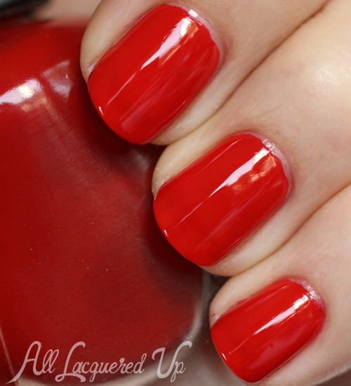 Sally Hansen Perfectly Poppy nail polish swatch