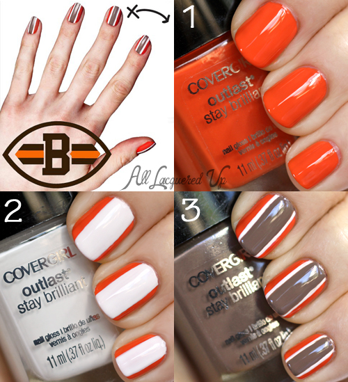 COVERGIRL Cleveland Browns Fanicure Nail Art Tutorial How-to