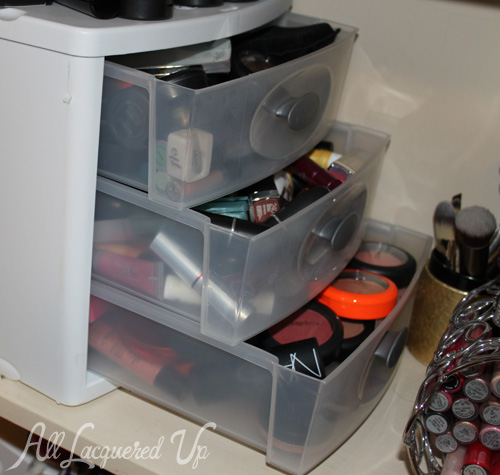 Sterilite makeup storage drawers