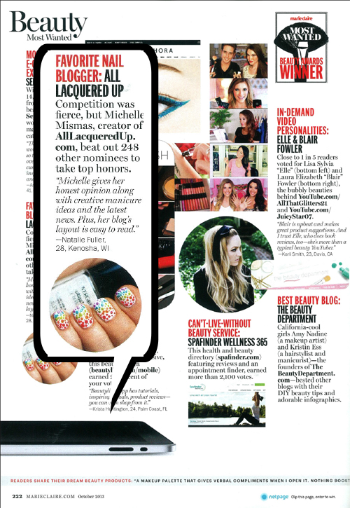 Marie Claire's Most Wanted Beauty Awards Favorite Nail