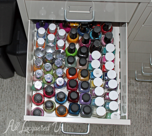 Nail Polish Storage - IKEA Helmer & Makeup Wars - Storage Wars : All Lacquered Up